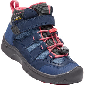 """Keen Kids Hikeport Waterproof Mid Shoes Dress Blues/Sugar Coral"""